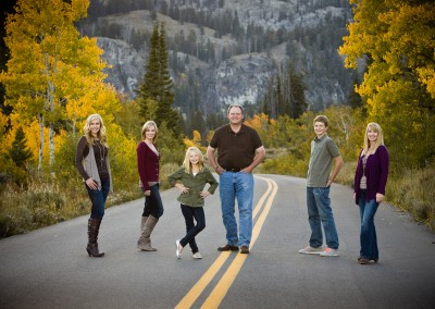 Mackley family portrait - Tony Grove, Utah